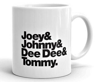 Band Line-Up Mug: Ramones (Ships within Australia)