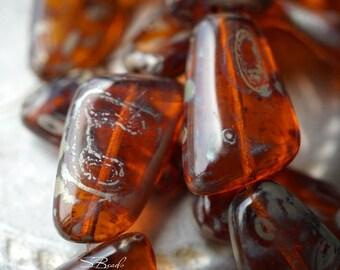 Dark Topaz, Czech Beads, Beads, N2475