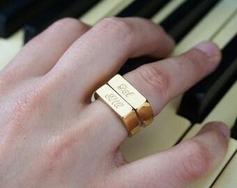 Name Bridesmaid Ring, Personalized Bridesmaid Ring, Gold Bridesmaid Ring, Custom Bridesmaid Ring, Bridesmaids Jewelry, Bridesmaids Gifts