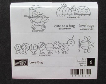 "Stampin' Up!-""Love Bug""-6Piece-Retired-NIP"