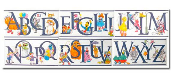 Sesame Street Mural Style Wall Border For Walls Or Crafts