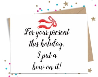 Funny Christmas Card, Funny Holiday Card, Hanukkah Card, Wife Holiday Card, Husband Holiday Card,Naughty Card, Boyfriend Card, Girlfriend