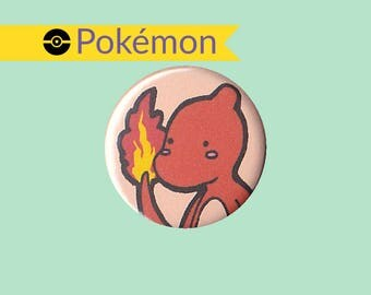 Charmeleon Badge - Pokemon pin, Charmeleon button, Charmeleon pin, Pokemon badge, Pokemon button, cute Charmeleon, kawaii Charmeleon