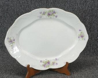 Vintage White Porcelain Serving Platter Made In Vienna