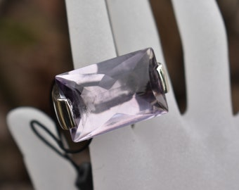 Pianegonda Italy huge sterling silver and amethyst statement ring.  Sold out and rare rock star cocktail ring.
