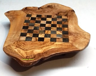 Home decoration, Christmas gift, OLIVE WOOD rustic CHESS set  board, parents gift, home decoration, boyfriend gift, girlfriend present
