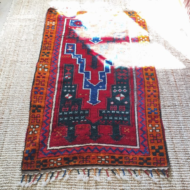 Shop Oriental Persian Gabbeh Shades Of Orange Hand Knotted: Handpicked Vintage Things From Gothenburg By