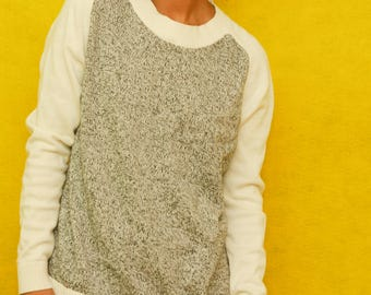 Gap Grey & White Pullover Sweater