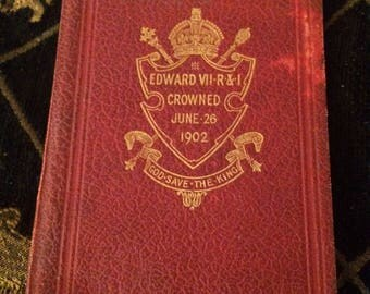 Original Commemorative Book King Edward VII Coronation 1902