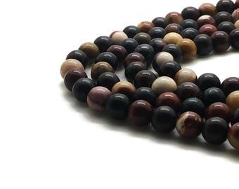 12mm Natural Mookaite Beads Round 12mm Mookaite 12mm Mookaite Jasper 12mm Mookaite Gemstone Mookaite 12 mm Mookaite 12mm Mookaite Beads 12mm
