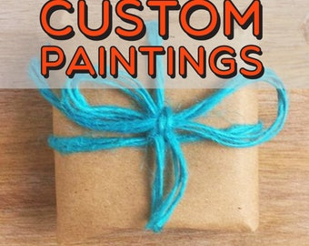 "Custom Couple Portrait Painting (12"" x 12"")"