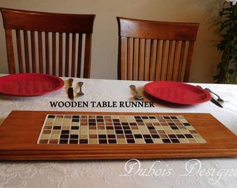 Wooden table runner, Decorative trivet, Table centerpiece, Kitchen Décor, Trivet, Table runner, Home Décor