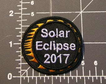 2017 Solar Eclipse Patch / iron on / embroidery