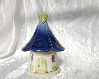 Stoneware Handmade Incense House