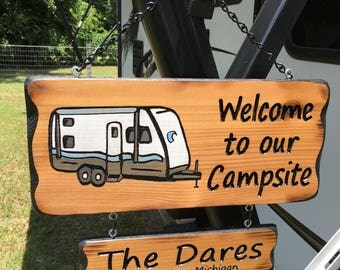 RV Hand Routed Sign