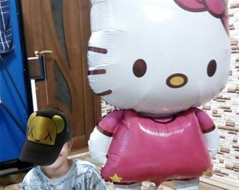 Hello kitty KT Cat Foil Balloons Large Cartoon Kids Birthday Wedding Party Decor Baby Shower Air Globos Inflatable Toys Balls