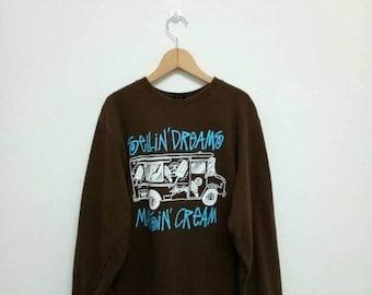 20% OFF Vintage Stussy Sellin Dreams Sweatshirt/Streetwear Clothing/Skater/Hiphop/Powell Peralta/Thrasher