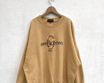 20% OFF Vintage Gianni Valentino Spell Out Sweatshirt/Gianni Valentino Sweatshirt/Gianni Valentino Big Logo/Hip Hop