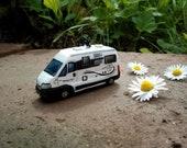 Camper Portachiavi in miniatura personalizzato idea regalo per camperisti camping car furgonato camper puro citroen globcar fatto a mano
