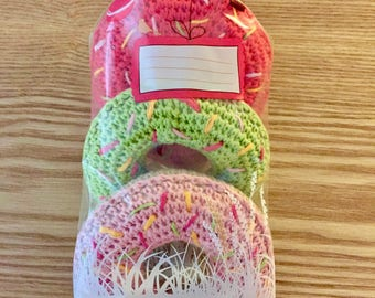 Dinette / market crochet: set of 3 donuts