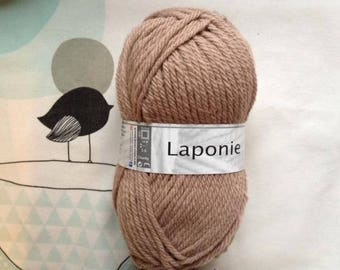 WOOL LAPLAND Taupe - white horse