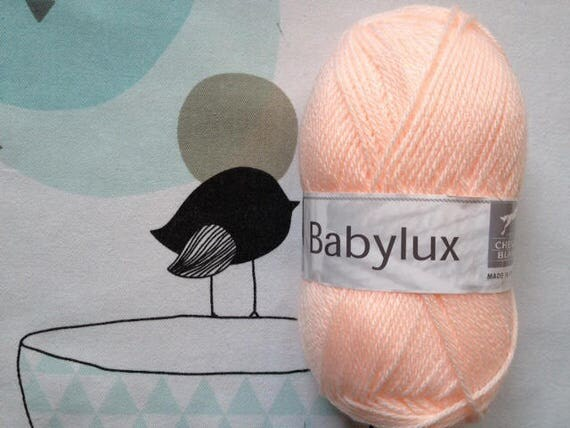 WOOL BABYLUX Melon - white horse