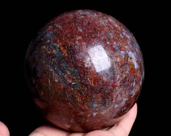 Free Shipping! Rare Natural Pietersite Crystal Sphere Ball Crystal Healing ,Crystal Sphere J895