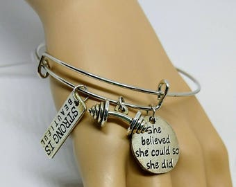 Strong is Beautiful Charm Bracelet