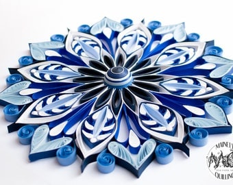 Quilled Mandala in Blues | Original Artwork