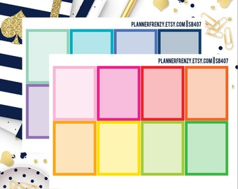 16 Solid Full Box Stickers with Overlay!  SB407
