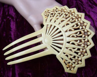 Hair comb French Ivory Spanish style hair accessory headdress headpiece hair pin hair fork hair pick hair jewelry