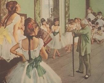Edgar Degas Dancing Lesson 1871 Vintage Heliogravure
