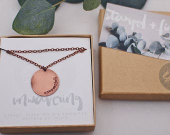 Unwavering Copper Long Necklace
