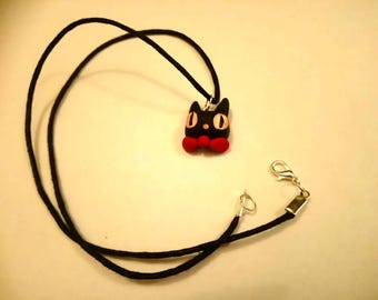 Jiji Studio Ghiblis Kiki delivery service necklace polymer clay cute kawaii Black cat