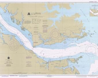 York River Map - Below King Creek - Chesapeake Bay Chart - 1995