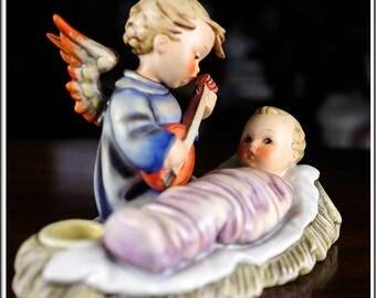 "Vintage Goebel Hummel Large 8.75"" Hum #24/3 Lullaby Candle Holder Figurine TMK 2 Germany"