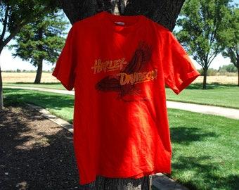 rad 1980s harley davidson vintage t shirt size large