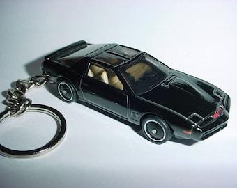 3D KITT Pontiac Firebird custom keychain by Brian Thornton keyring key chain finished in black color trim diecast metal body knight rider