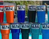 Powder Coated 20 oz YETI Rambler Tumbler Stainless Steel Mug W/Lid * 20oz Yeti Tumbler * Free Shipping