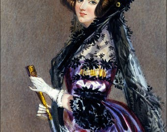 Poster, Many Sizes Available; Ada Lovelace Portrait