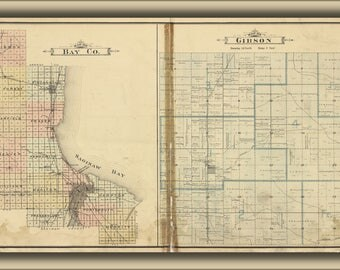 Poster, Many Sizes Available; Map Of Bay County Bay City Michigan 1896