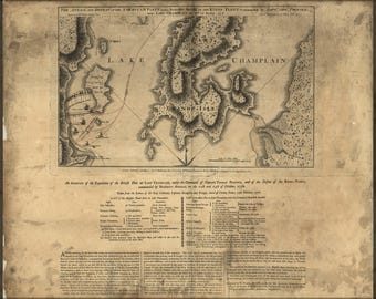Poster, Many Sizes Available; Map Of Benedict Arnold On Lake Champlain 1776 P2