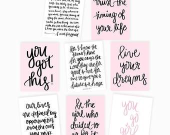 Motivational Greeting Card Assorted Set, A2 Greeting Card, Inspirational, Assorted Notecards, Thinking Of You Encouragement Cards Motivation