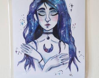 """5x7"""" Moon Queen Art Print"""