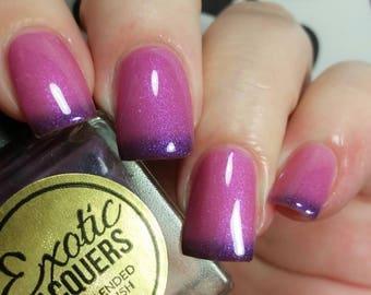 F-BOMB Thermal Multi-Chrome Nail Polish -Purple/Golden Red Nail Lacquer