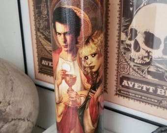 St Sid and Nancy Punk Rock Valentine Prayer Candle