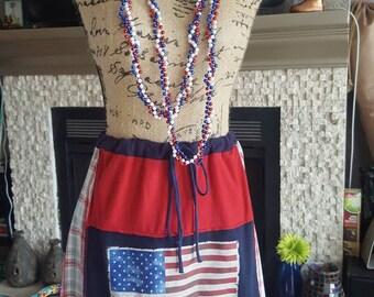 July 4th Patriotic skirt/top