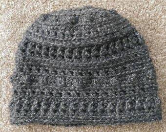 Crocheted Textured Beanie