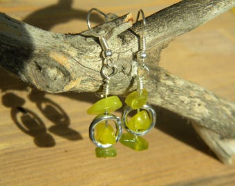 lemon jade drop earrings