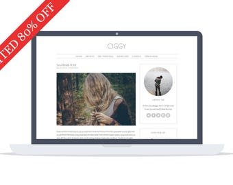 80% OFF - Ciggy - Wordpress Theme - Premade - Self Hosted - Wordpress Blog Theme - Responsive